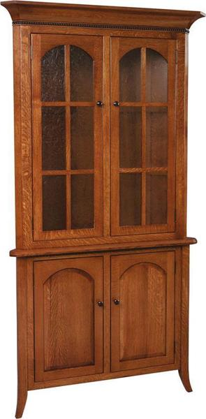 Bunker Hill Amish Corner Hutch Full Doors