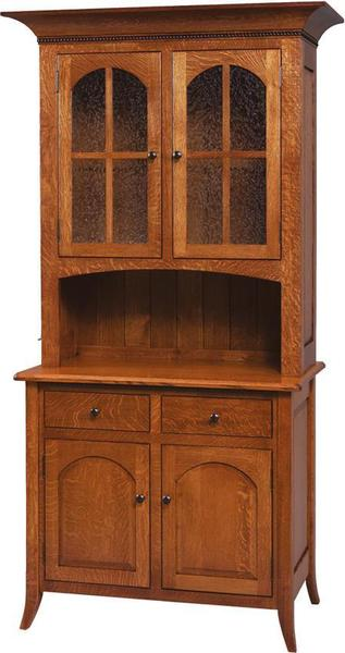 Amish Bunker Hill Hutch and Buffet