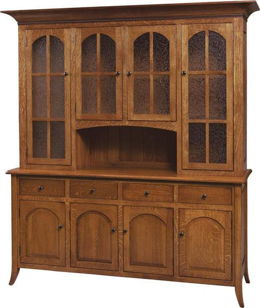 Amish Bunker Hill Four Door Hutch