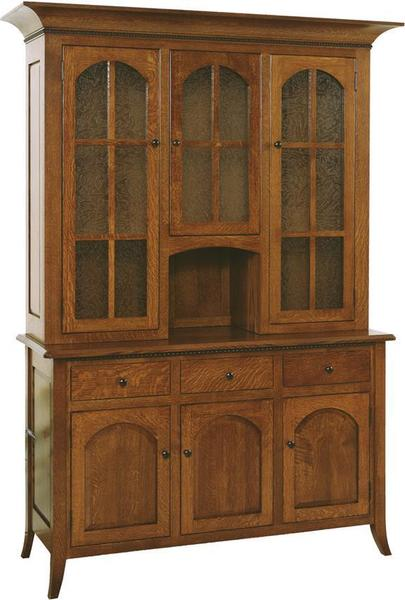 Amish Bunker Hill Three Door Hutch