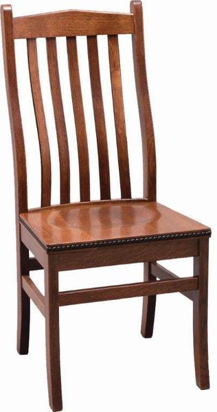 Amish Bunker Hill Dining Chair with Rope Moulding