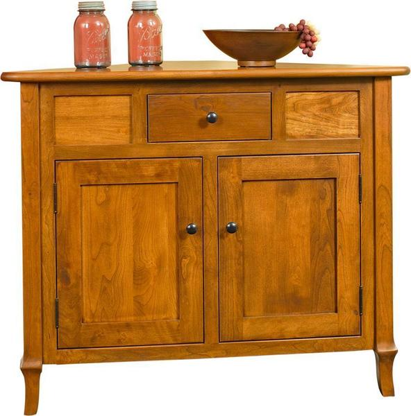 jacob martin corner buffet cabinet from dutchcrafters amish furniture rh dutchcrafters com Coffee Corner Cabinet Coffee Corner Cabinet