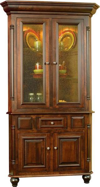 Amish European Corner Dining Hutch