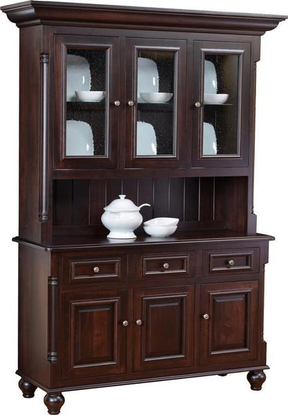 Amish Solid Wood European Hutch