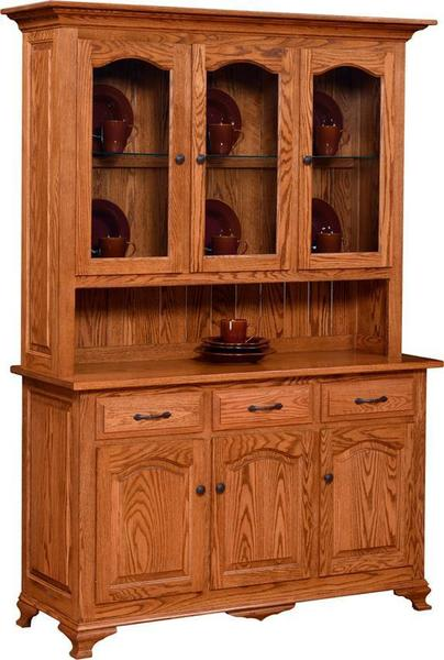 Plum Creek Amish Buffet with Hutch Top