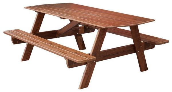 Amish Cedar Wood 6' Picnic Table