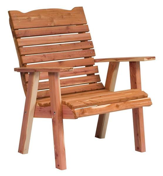 Amish Cedar Wood Outdoor Straightback Chair