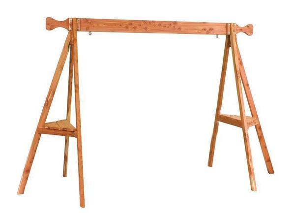 Amish Cedar Wood Tripod Swing Stand