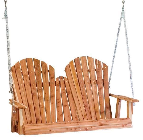 Amish Cedar Wood Adirondack Porch Swing