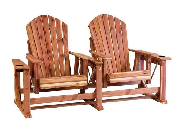 Amish Cedar Wood Adirondack Chair Settee