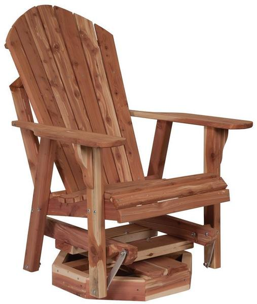 Amish Cedar Wood Adirondack Swivel Glider