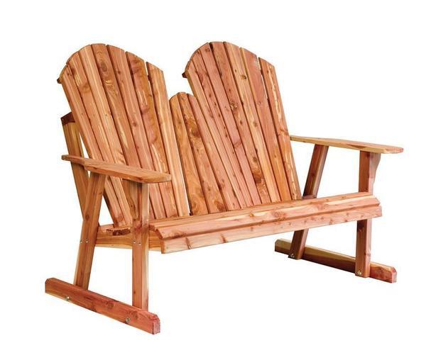 Amish Cedar Wood Adirondack Bench