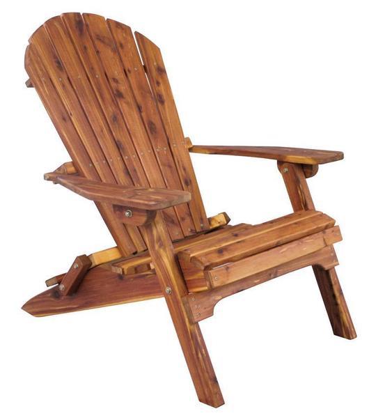 Amish Cedar Wood Adirondack Folding Chair