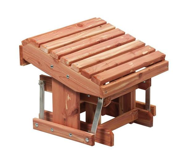 Amish Cedar Wood Gliding Footstool
