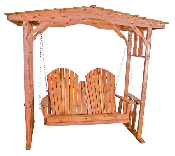 Amish Cedar Wood Swing Arbor