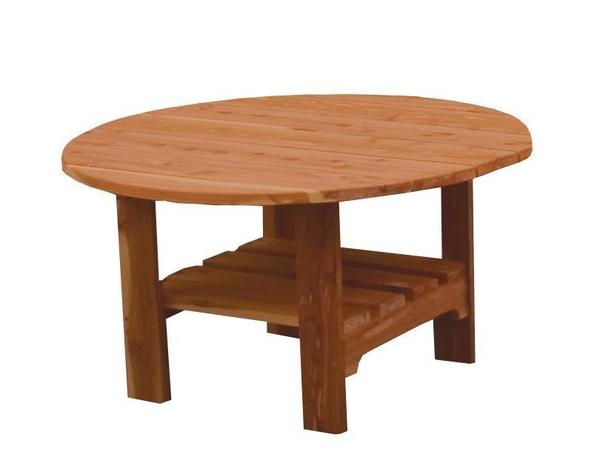 Amish Cedar Wood Round Coffee Table