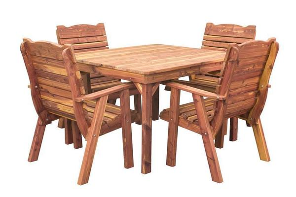 Amish Cedar Wood Outdoor Casual Dining Table