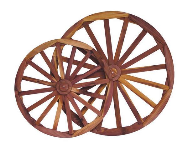 Amish Decorative Red Cedar Buggy Wheel
