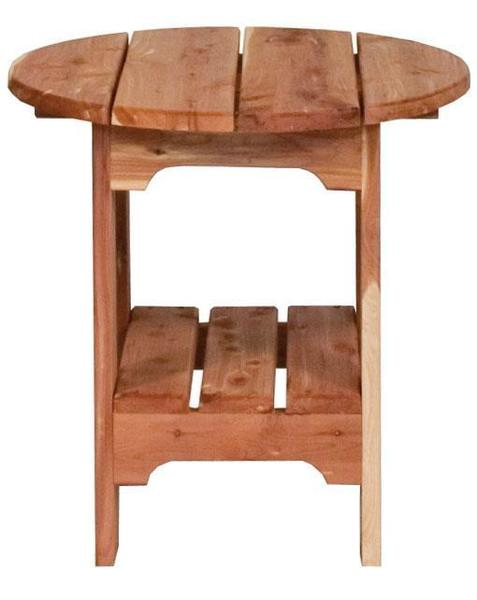 Amish Cedar Wood Round End Table
