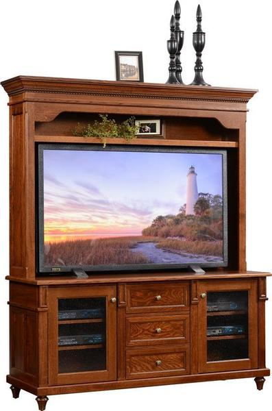 Bridgeport Plasma Tv Stand With Hutch Top From Dutchcrafters Amish