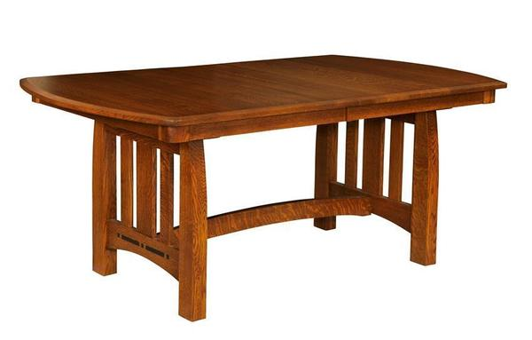 Amish Hot Springs Trestle Dining Table