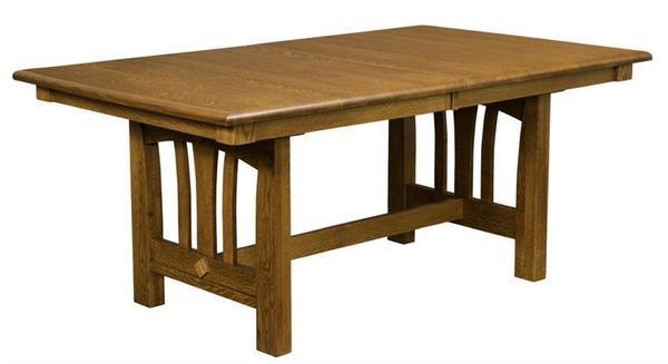 Amish Crawfordsville Trestle Dining Table