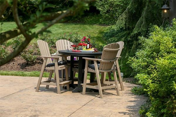 Berlin Gardens 5-Piece Comfo-Back Poly Dining Set