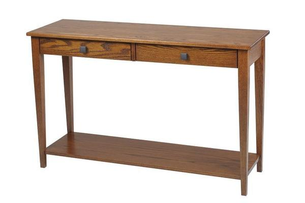 Amish Woodland Shaker Hall Table with Shelf