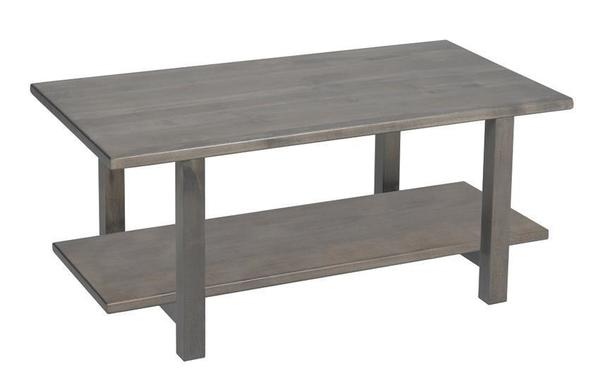 Amish Hilton Contemporary Coffee Table with Wood Top
