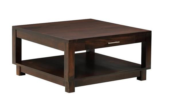 Amish Urban Square Coffee Table with Drawer