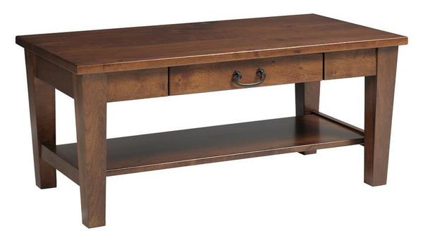 Amish Urban Shaker Coffee Table with Drawer