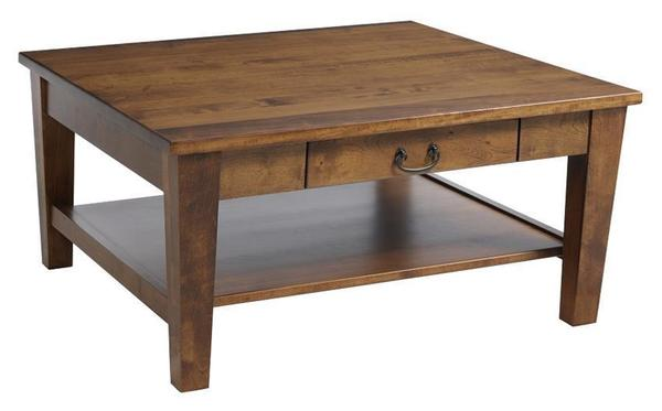 Amish Urban Shaker Square Coffee Table with Drawer