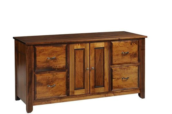"Amish Arlington 60"" Credenza with Optional Hutch Top"