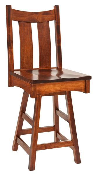 Amish Country Shaker Swivel Barstool