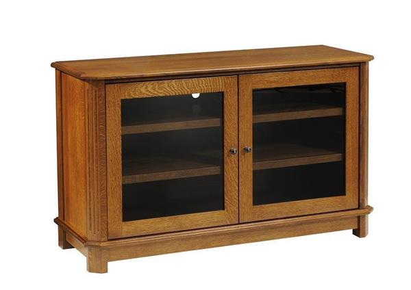 Amish Franchi Smoked Glass TV Stand