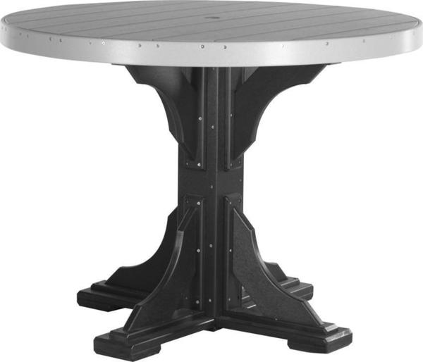 LuxCraft 4' Poly Round Table - Dining, Counter, or Bar Height