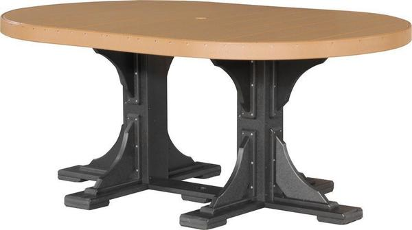 LuxCraft 4' x 6' Oval Poly Table