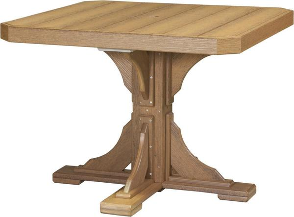 "LuxCraft 41"" Square Poly Table"