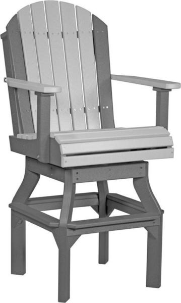 LuxCraft Adirondack Poly Swivel Chair