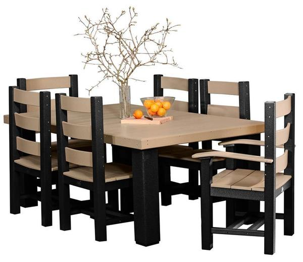 Prime Luxcraft 4 X 6 Contemporary Poly Dining Set Andrewgaddart Wooden Chair Designs For Living Room Andrewgaddartcom