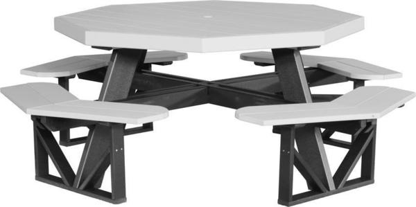 LuxCraft Poly Octagon Picnic Table