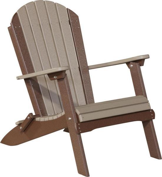 LuxCraft Poly Folding Adirondack Chair