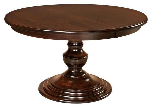 Amish Kingsley Single Pedestal Dining Table