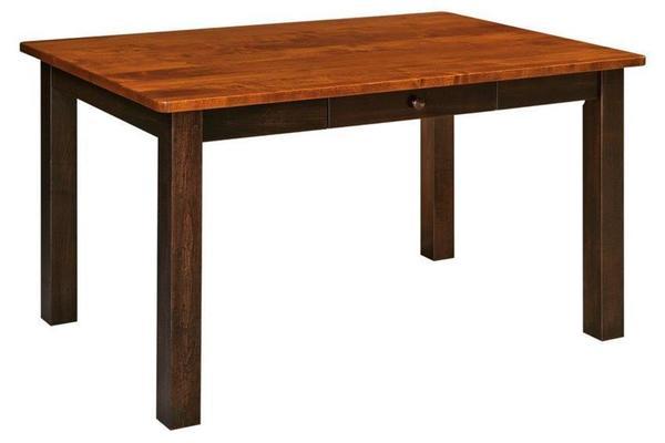 Amish Orlando  Leg Dining Table