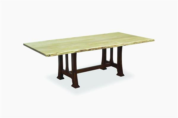 Amish Custer Table with Live Edge