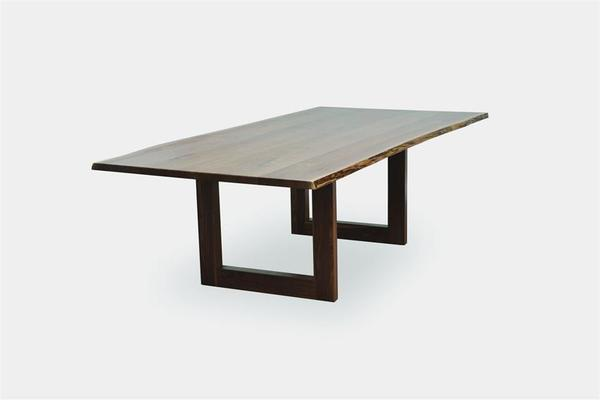 Amish Kalispel Dining Table with Live Edge