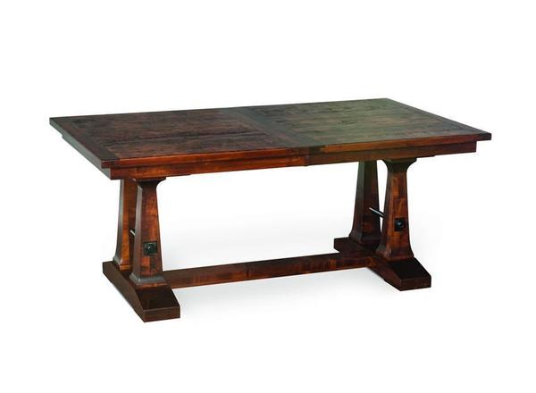 Vienna Plank Top Trestle Dining Table