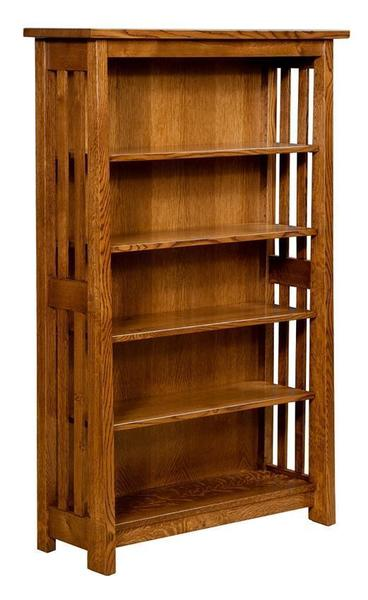 Amish Freemont Mission Open Bookcase