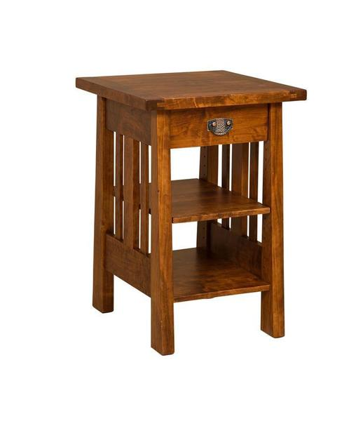 Amish Freemont Mission Printer Stand with Drawer