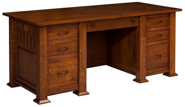 Amish Keystone Executive Desk